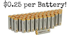 AmazonBasics AA Performance Alkaline Batteries 48-Pack Only $11.87!