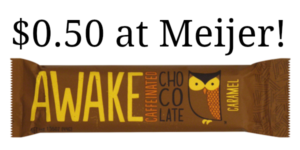 Meijer: Awake Chocolate Bars Only $0.50!