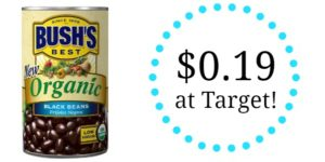 Target: Bush's Organic Beans Only $0.19!
