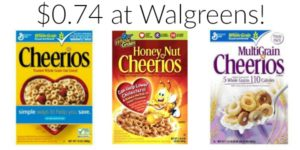 Walgreens: Cheerios Cereal Only $0.74!