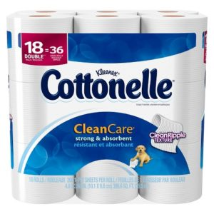 CVS: Cottonelle Clean Care 18 Double Rolls Only $6.74! ($0.19/roll)