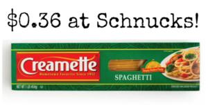 Schnucks: Creamette Pasta Only $0.36!