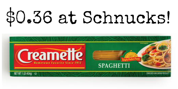 Schnucks: Creamette Pasta Only $0.36!