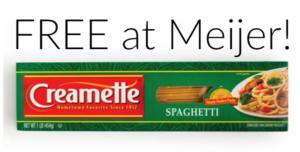 FREE Creamette Pasta at Meijer!