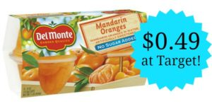 Target: Del Monte Fruit Cups Only $0.49!