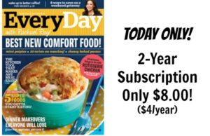 Every Day with Rachael Ray Magazine Subscription Only $4.00/yr!