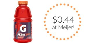 Meijer: Gatorade Flow Only $0.44!