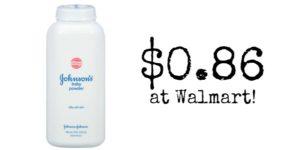Walmart: Johnson's Baby Powder Only $0.86!