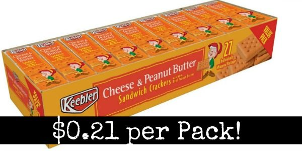 Keebler Peanut Butter Crackers 27 Pack