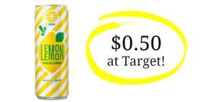 Target: Lemon Lemon Sparkling Lemonade Single Can Only $0.50!