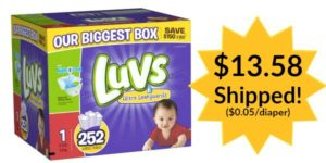 *HOT* Luvs Diapers Only $0.05 per Diaper Shipped!