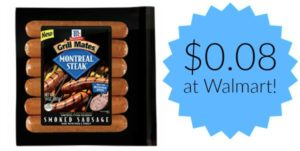 Walmart: McCormick Grill Mates Sausage Only $0.08!