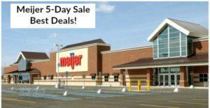 Meijer 5-Day Sale Best Deals – May 25 – 29