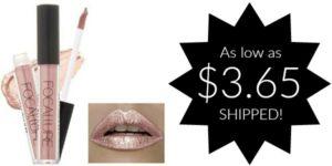 Gorgeous Metallic Lipstick as low as $3.65 SHIPPED!