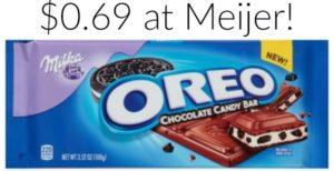 Meijer: Milka Oreo Bar 3.52oz Only $0.69!
