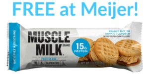 FREE Muscle Milk Protein Bars at Meijer!