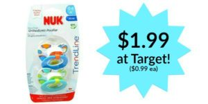Target: 2-Pack Nuk Pacifiers Only $1.99!