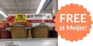 FREE Old Virginia Fruit Sauce Dessert Cups at Meijer!