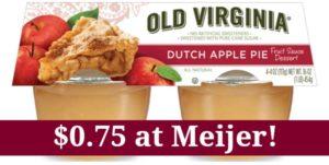 Meijer: Old Virginia Fruit Sauce Dessert Cups Only $0.75!