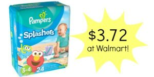 Walmart: Pampers Splashers Only $3.72!