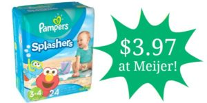 Meijer: Pampers Splashers Swim Diapers Only $3.97!!