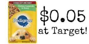 Target: Pedigree Dog Food Pouches Only $0.05!