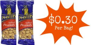 Planters Salted Peanuts 12-Packs for $3.70!
