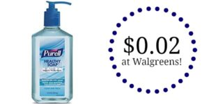Walgreens: Purell Healthy Soap Only $0.02!