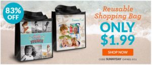 Custom Reusable Shopping Bag Only $1.99!