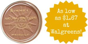 Walgreens: Rimmel Bronzer as low as $1.67!
