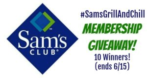 Enter to WIN a Sam's Club Membership!! (ends 6/15)