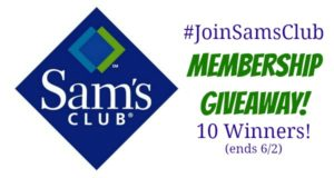 Enter to WIN a Sam's Club Membership!! (ends 6/2)