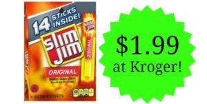 Kroger: Slim Jim Sticks 14-count Only $1.99!