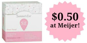 Meijer: Summer's Eve Cleansing Cloths Only $0.50!