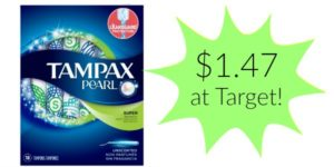 Target: Tampax Pearl Tampons Only $1.47!