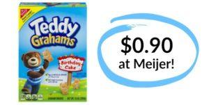 Meijer: Teddy Grahams Only $0.90!