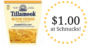 Schnucks: Tillamook Shredded Cheese Only $1.00!