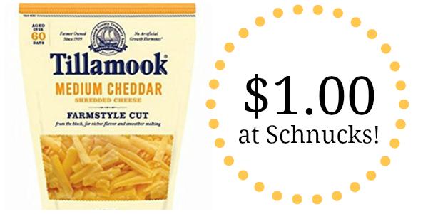 Schnucks: Tillamook Shredded Cheese Only $1.00!