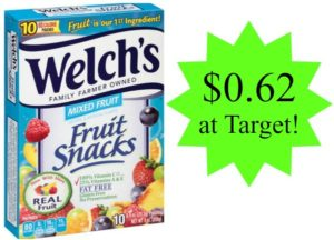 Target: Welch's Fruit Snacks Only $0.62!