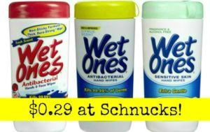 Schnucks: Wet Ones Wipes Only $0.29!
