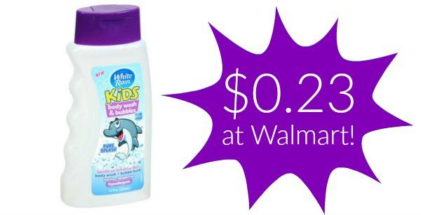 Walmart: White Rain Kids Body Wash Only $0.23!