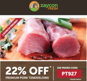 Zaycon Fresh Pork Tenderloins Only $2.34 per Pound!
