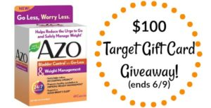 AZO Bladder Control & Weight Management Full-Size Sample + $100 Target Gift Card Giveaway! (ends 6/9)