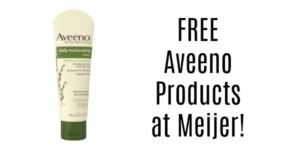 Meijer: Aveeno Products as low as FREE!
