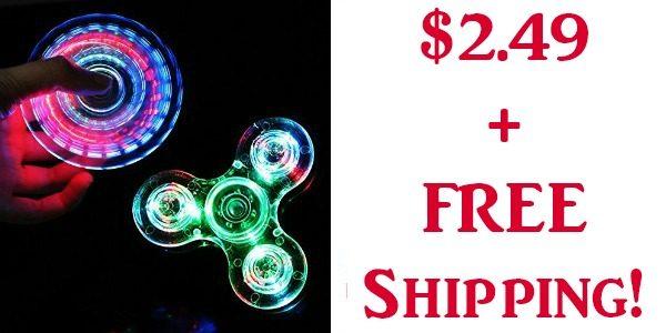 Colorful LED Fidget Spinner