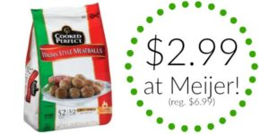 Meijer: Cooked Perfect Meatballs Only $2.99! (reg. $6.99)