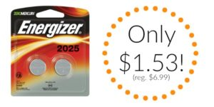 Energizer Watch Battery, 2-count as low as $1.53! (reg. $6.99)