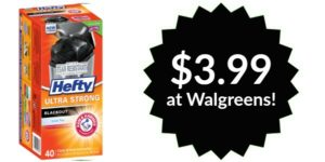 Walgreens: Hefty BlackOut Tall Kitchen Trash Bags as low as $0.10/bag!