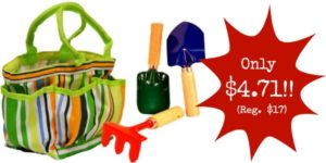 **HOT** Kids Garden Tools Set with Tote Only $4.71 (Reg. $17)!!
