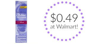 Walmart: L'Oreal Excellence Creme Permanent Hair Color Only $0.49!
